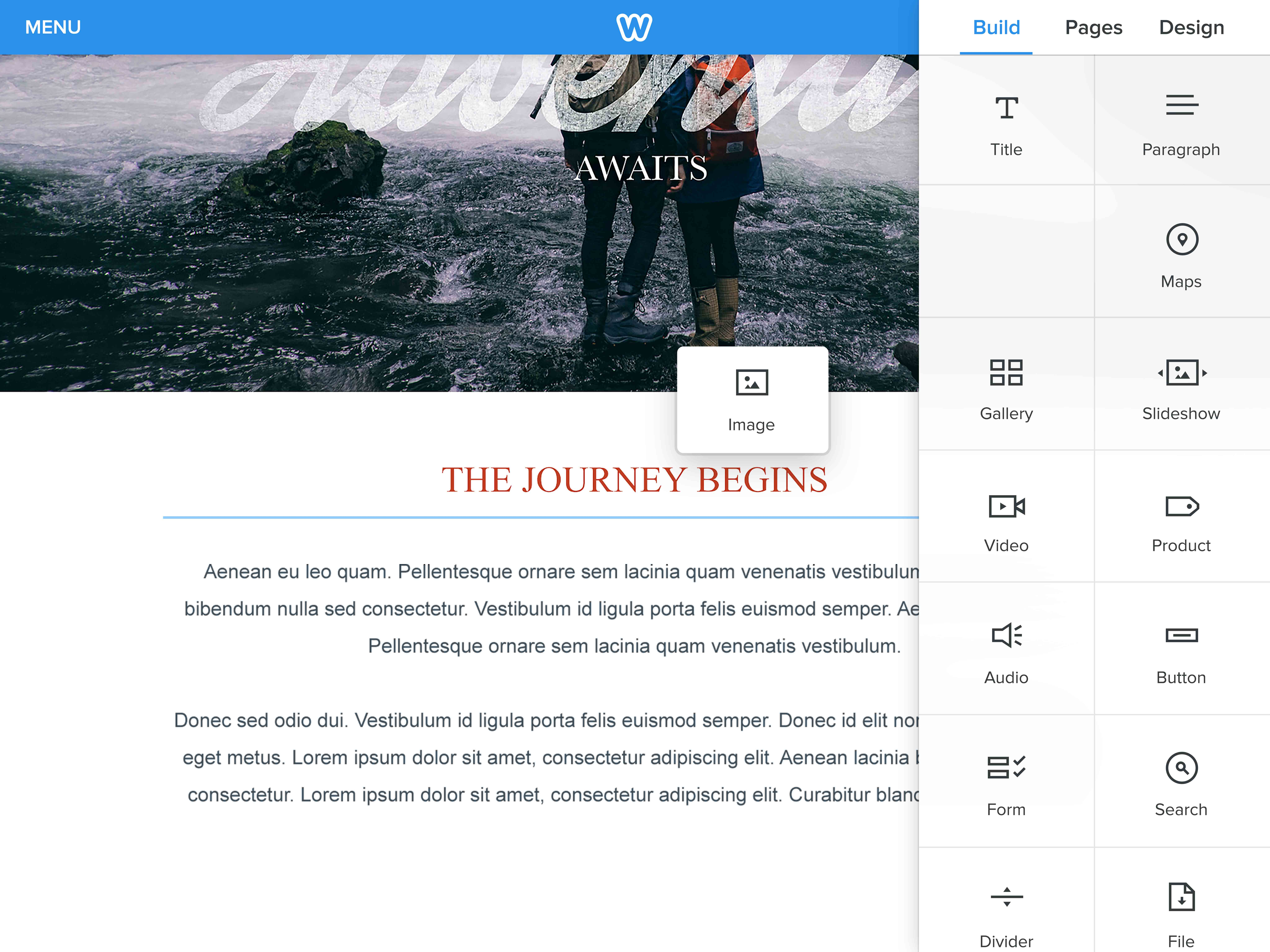Weebly Drag and Drop Website Editor
