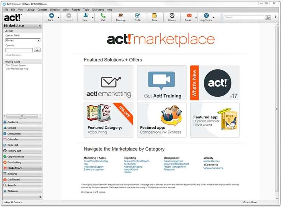 Act Connect Marketplace