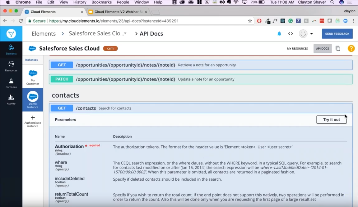 Authenticate Salesforce Contacts