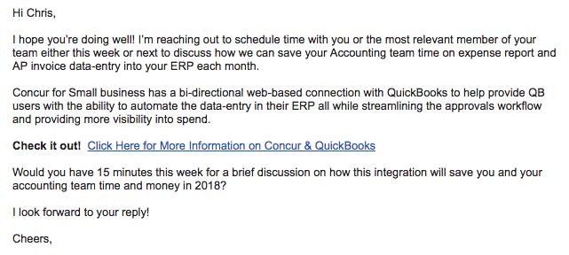 Concur + Quickbooks Integration