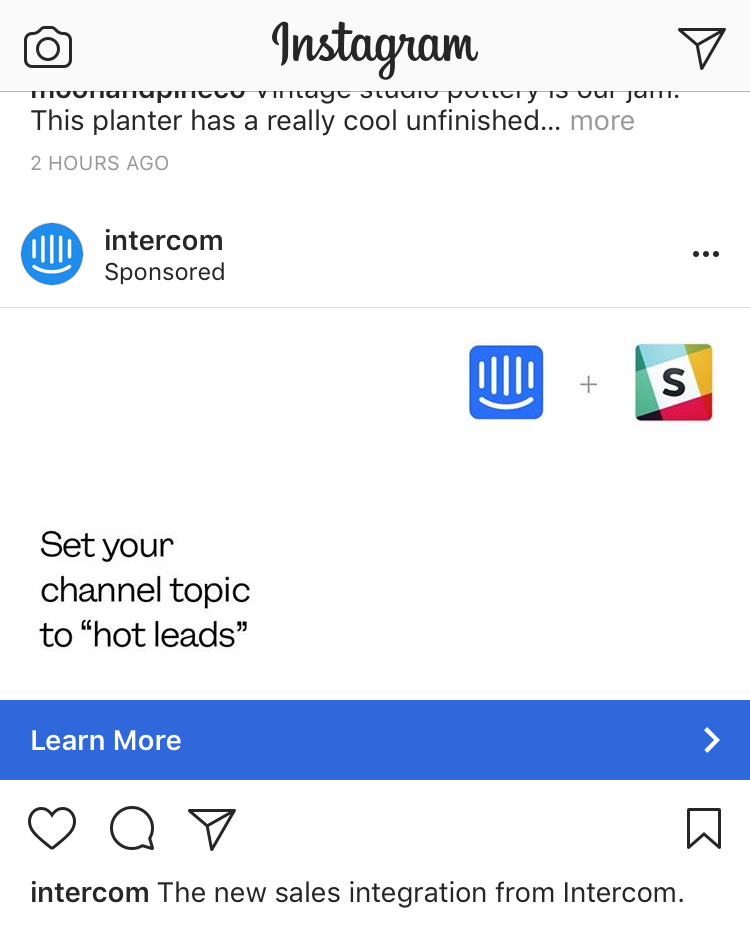 Intercom + Slack integration