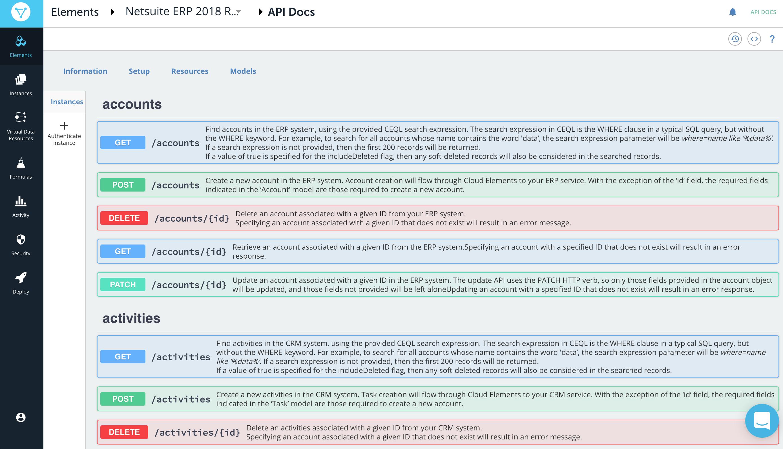 Netsuite ERP OpenAPI spec documentation
