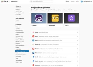Slack's integration marketplace