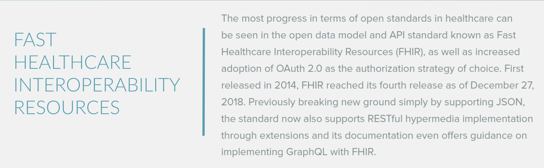Fast Healthcare Interoperability Resources