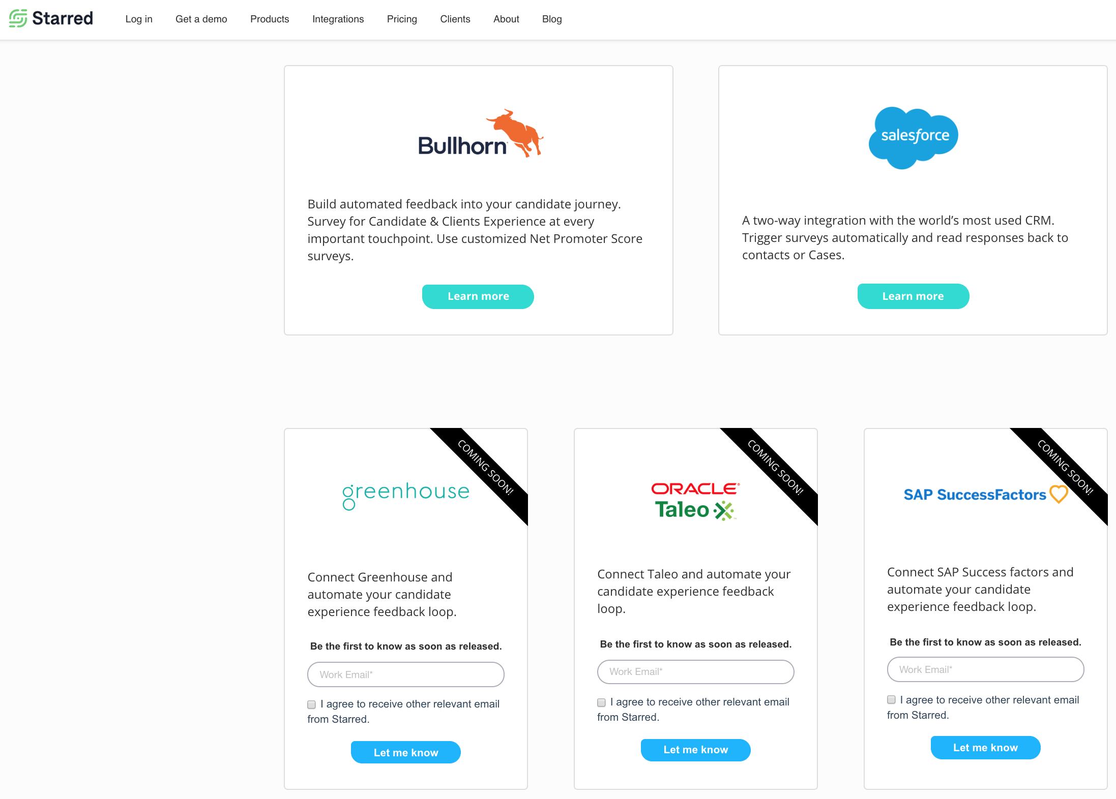 Starred API Integration Marketplace