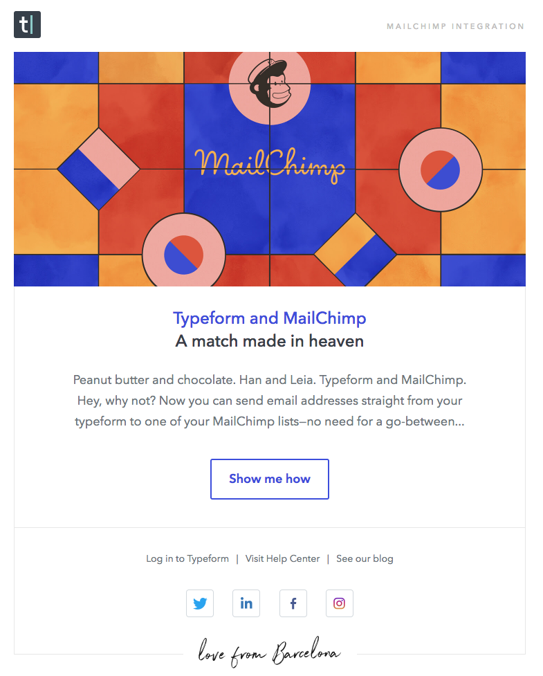Typeform + Mailchimp Integration