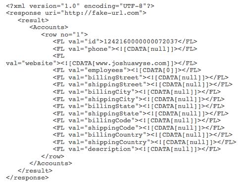 XML Data Structure Model