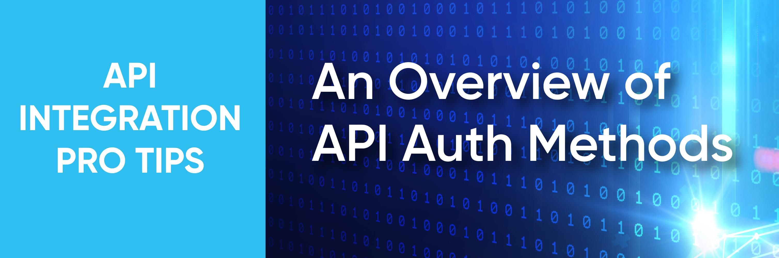 API authentication methods