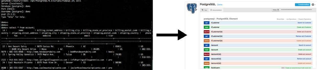 Database to RESTful API
