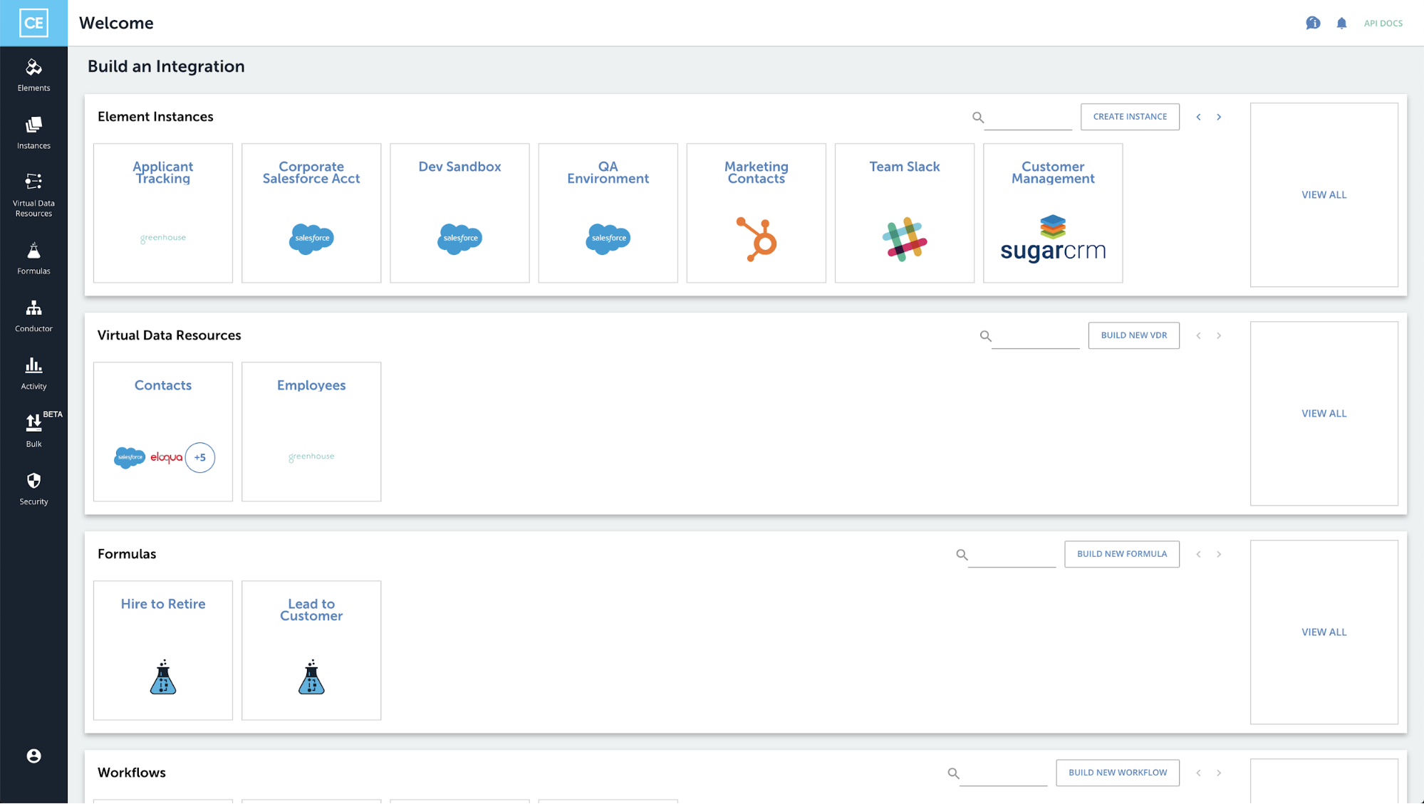 Updated Cloud Elements homepage 3/31
