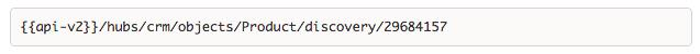 Register the discovery API for the product object