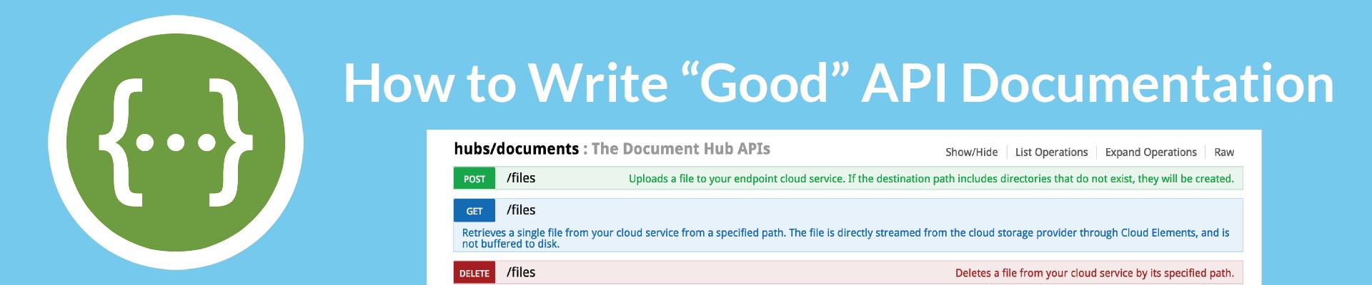 Good API Documentation